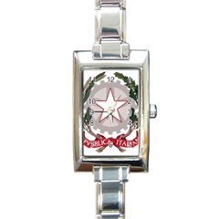 Emblem Of Italy Rectangle Italian Charm Watch by abbeyz71