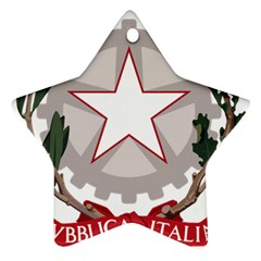 Emblem Of Italy Star Ornament (two Sides) by abbeyz71