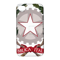 Emblem Of Italy Apple Iphone 4/4s Hardshell Case With Stand by abbeyz71