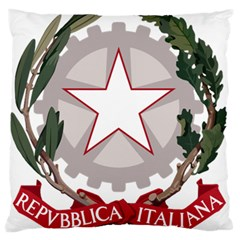 Emblem Of Italy Large Flano Cushion Case (one Side) by abbeyz71