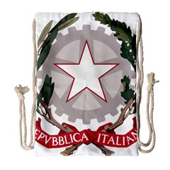 Emblem Of Italy Drawstring Bag (large) by abbeyz71