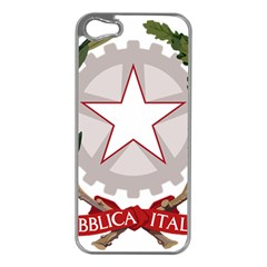 Emblem Of Italy Apple Iphone 5 Case (silver) by abbeyz71