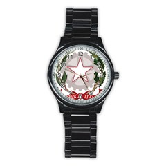 Emblem Of Italy Stainless Steel Round Watch by abbeyz71