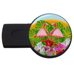 Flamingo Usb Flash Drive Round (2 Gb) by Valentinaart