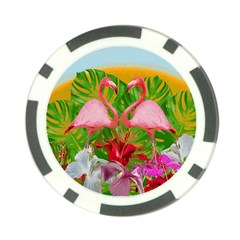 Flamingo Poker Chip Card Guard (10 Pack)