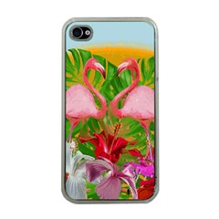 Flamingo Apple Iphone 4 Case (clear) by Valentinaart