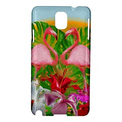 Flamingo Samsung Galaxy Note 3 N9005 Hardshell Case by Valentinaart