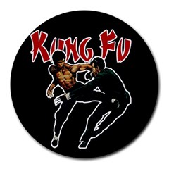 Kung Fu  Round Mousepads by Valentinaart