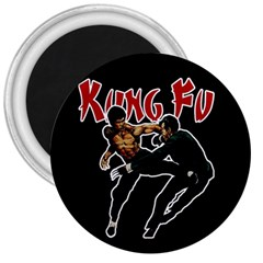 Kung Fu  3  Magnets by Valentinaart