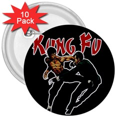 Kung Fu  3  Buttons (10 Pack)  by Valentinaart