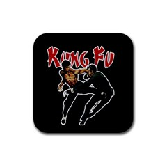 Kung Fu  Rubber Coaster (square)  by Valentinaart