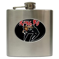 Kung Fu  Hip Flask (6 Oz) by Valentinaart