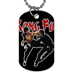 Kung Fu  Dog Tag (two Sides) by Valentinaart