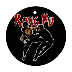 Kung Fu  Round Ornament (two Sides) by Valentinaart