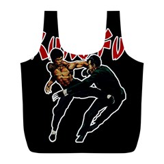 Kung Fu  Full Print Recycle Bags (l)