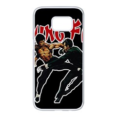 Kung Fu  Samsung Galaxy S7 Edge White Seamless Case by Valentinaart