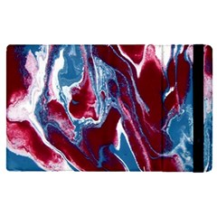 Blue Red White Marble Pattern Apple Ipad Pro 9 7   Flip Case