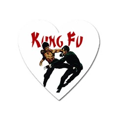 Kung Fu  Heart Magnet by Valentinaart