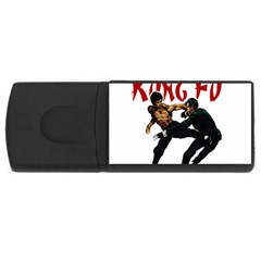 Kung Fu  Usb Flash Drive Rectangular (4 Gb) by Valentinaart