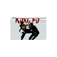 Kung Fu  Cosmetic Bag (small)  by Valentinaart