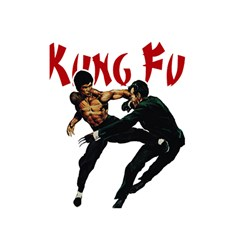 Kung Fu  Shower Curtain 48  X 72  (small)  by Valentinaart
