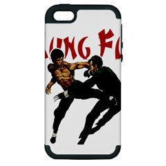 Kung Fu  Apple Iphone 5 Hardshell Case (pc+silicone) by Valentinaart