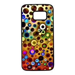 Colorful Circle Pattern Samsung Galaxy S7 Black Seamless Case by Costasonlineshop