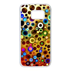 Colorful Circle Pattern Samsung Galaxy S7 White Seamless Case by Costasonlineshop