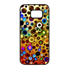Colorful Circle Pattern Samsung Galaxy S7 Edge Black Seamless Case by Costasonlineshop