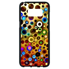 Colorful Circle Pattern Samsung Galaxy S8 Black Seamless Case by Costasonlineshop