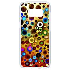 Colorful Circle Pattern Samsung Galaxy S8 White Seamless Case by Costasonlineshop