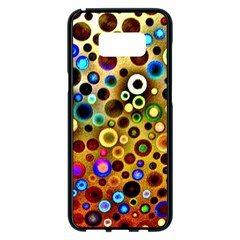 Colorful Circle Pattern Samsung Galaxy S8 Plus Black Seamless Case by Costasonlineshop