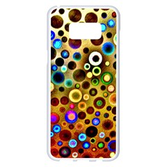 Colorful Circle Pattern Samsung Galaxy S8 Plus White Seamless Case by Costasonlineshop