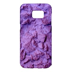 Purple Wall Background Samsung Galaxy S7 Edge Hardshell Case