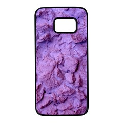 Purple Wall Background Samsung Galaxy S7 Black Seamless Case by Costasonlineshop