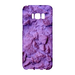 Purple Wall Background Samsung Galaxy S8 Hardshell Case  by Costasonlineshop
