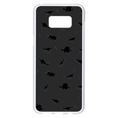 Dinosaurs Pattern Samsung Galaxy S8 Plus White Seamless Case by ValentinaDesign