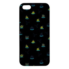 Cactus Pattern Apple Iphone 5 Premium Hardshell Case by ValentinaDesign