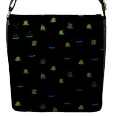 Cactus Pattern Flap Messenger Bag (s) by ValentinaDesign