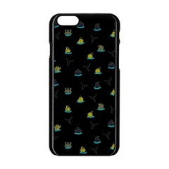 Cactus Pattern Apple Iphone 6/6s Black Enamel Case by ValentinaDesign
