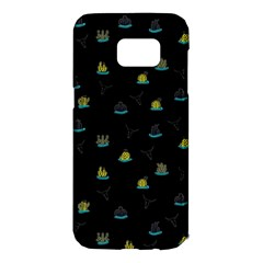 Cactus Pattern Samsung Galaxy S7 Edge Hardshell Case by ValentinaDesign