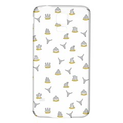 Cactus Pattern Samsung Galaxy S5 Back Case (white) by ValentinaDesign