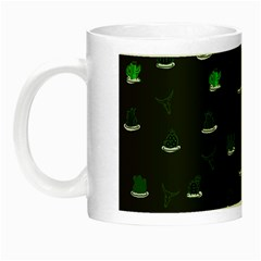 Cactus Pattern Night Luminous Mugs by ValentinaDesign