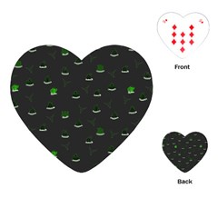 Cactus Pattern Playing Cards (heart)  by ValentinaDesign