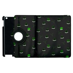 Cactus Pattern Apple Ipad 3/4 Flip 360 Case by ValentinaDesign
