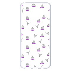 Cactus Pattern Samsung Galaxy S8 Plus White Seamless Case by ValentinaDesign