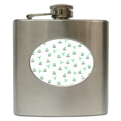 Cactus Pattern Hip Flask (6 Oz) by ValentinaDesign