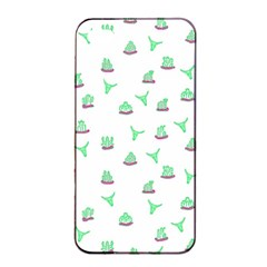 Cactus Pattern Apple Iphone 4/4s Seamless Case (black) by ValentinaDesign
