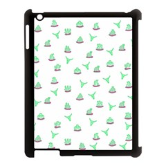 Cactus Pattern Apple Ipad 3/4 Case (black) by ValentinaDesign