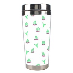 Cactus Pattern Stainless Steel Travel Tumblers by ValentinaDesign